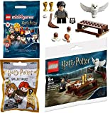 LEGO Spells & Wands Harry Potter Brick Set Journey to Hogwarts Building with Hedwig Mini Figure Bundled with Character Topper & Blind Bag Collectibles 3 Items