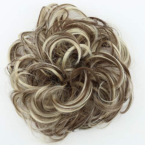 PRETTYSHOP Postizo Coletero Peinado alto, VOLUMINOSO, rizado, Moño descuidado mezcla rubia marrón # 12H88 G38A
