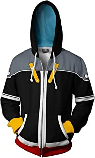 Unizero Kingdom Hearts Men's Hoodies – Adult Halloween Sweatshirt Jackets
