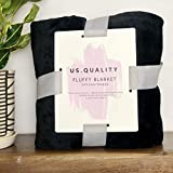 US Quality Lightweight Super Soft & Cozy Fleece Blanket – Premium Throw for Beds, Travel, Home Decor and Pets – 40x60 Inches All Season Anti-Pill Blanket (Jet Black)
