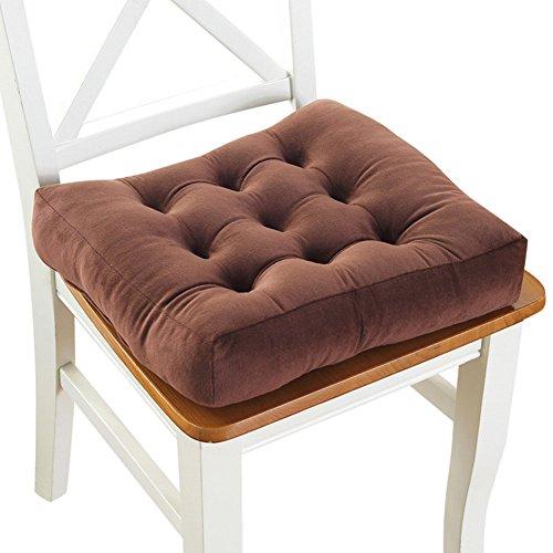 Cuscino per Sedia in Velluto a Coste Morbido Imbottito Cuscino per Sedia Imbottito in Cotone EPE Imbottitura per Cuscino da Pavimento in Tatami Addensato Pads-D 40x40cm (16x16inch)