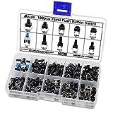 Aussel 10 Valores 180 Piezas Botón pulsador táctil Micro Momentary Tact Assortment Kit