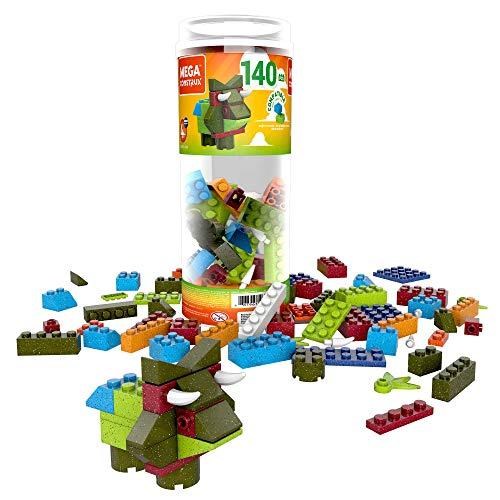 Mega Construx Wonder Builder 140 Piezas Tubo de construcción, Juguetes de construcción para niños (70 Piezas)