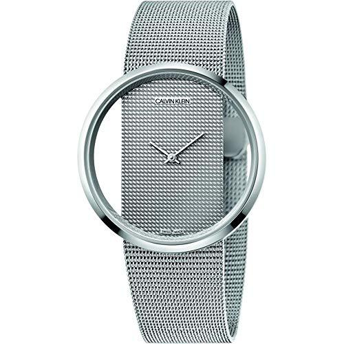 Calvin Klein Damen Analog Quarz Uhr mit Edelstahl Armband K9423T27