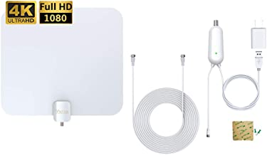 ANTAN HDTV Digital Amplified Indoor HD TV Antenna for 55-75 Miles Reception, Amplifier Signal Booster Support 8K 4K 1080P UHF VHF Freeview HDTV Channels with Coax Cable