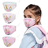 Kids Face Cloth Mask Reusable Washable Funny Designer Cute Fashionable Fashion Gaiters Breathable Adjustable Black Pink White Facemasks For Kids Childrens Boys Girls Child Youth Teen