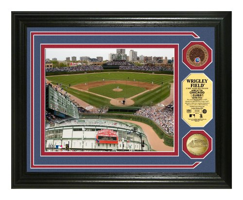 Wrigley Field 24KT Gold and Infield Dirt Coin Marquee Photo Mint