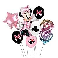 風船 ミニー風船ミッキーマウス誕生日パーティーの装飾ベビーシャワー装飾キッズパーティーミッキーバルーンエアグロブ (Color : 8)
