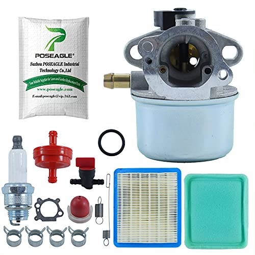 POSEAGLE 799868 Carburetor with 699056 790849 Spring Tune-Up Kits for 498170 497586 498254 497314 497347 497410 799872 790821 498255 498966 698444 Lawn Mower