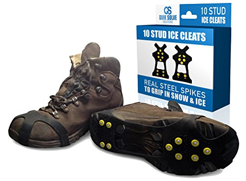 Quik Solve Ice Snow Traction Shoe Boot Cleats  No Slip Gripper Spikes Large