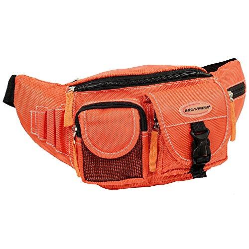 Geschenkset - exklusiver Greenland Nature Schlüsselanhänger + Herren & Damen Bag Gürteltasche Bauchtasche Angeltasche Wimmerl Tasche Farbe orange