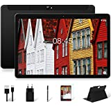 Tableta 10 Pulgadas MEBERRY Cellular y WiFi 4GB RAM+64GB ROM (128GB Expandible) Android Pie, 1280 * 800 IPS| Dual SIM| 8000mAh| Cámara Doble (5MP+8MP)| Certificación Google GMS| Bluetooth| GPS, Negro