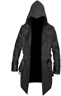 Decent Fashion Cosplay Costume Wool Coats for Men - Leather Jacket Wool Coat Removable Hood