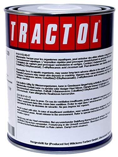 TRACTOL RAL 3002 karminrot 1 Liter Kunstharzlack Traktorlack Schlepperlack