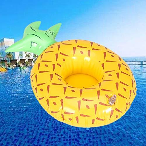 WRU Aufblasbares Spielzeug Wrubxvcd Von Am Wasserbecken unterstützt Schwimmdock Coaster Unterstützung von Von Von Tasse Ananasfrucht von Comics