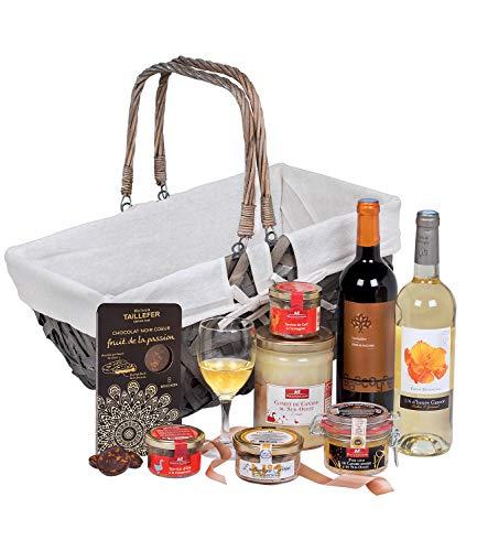 """Ducs de Gascogne - Coffret gourmand """"L'accent du Sud"""" - comprend 8 produits dont un foie gras - Idée cadeau Noël - 944893"""