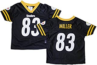 Outerstuff Heath Miller Pittsburgh Steelers Black Youth Jersey XX-Large 18