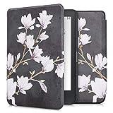 kwmobile Carcasa Compatible con Kobo Clara HD - Funda para Libro electrónico con Solapa - Magnolias