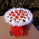 CPFYZH Niedliche Plüschbär Puppe Spielzeug Seife Rose Bouquet Hochzeitsgeschenk für romantischen...