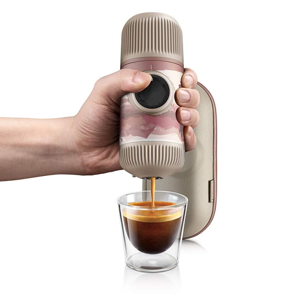DNCST Máquinas de cápsulas de café Máquina de Espresso p Prensa de la Mano Cafetera Máquina de café al Aire Libre Máquina de cápsulas portátil Mini Travel Viajes Cafetera: Amazon.es: Hogar
