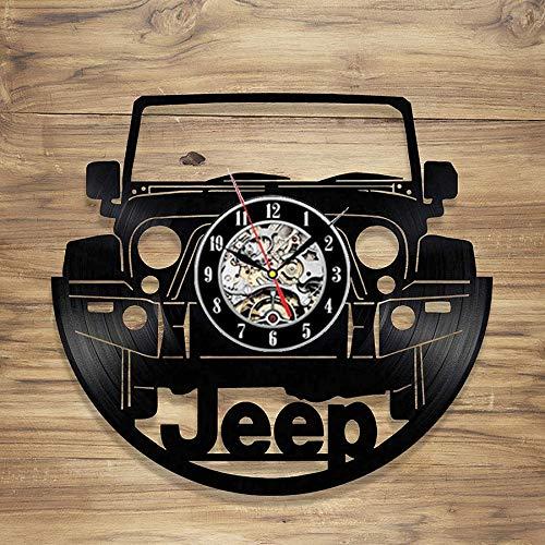 Logotipo del coche reloj de pared de vinilo retro diseño de mesa de madera lámpara de mesa lámparas de mesa de noche lámpara de mesa de batería