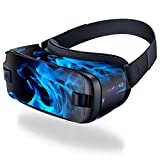 MightySkins Skin Compatible with Samsung Gear VR (2016) wrap Cover Sticker Skins Blue Flames