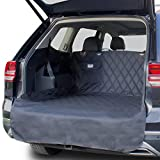 OAKI PET SUV Cargo Liner for Dogs Waterproof Universal Fit Non Slip Trunk Covers with Bumper Flap Protector - Durable Washable and Clean Easy Cover - Pocket for Dog Leash Accessories (Grey)