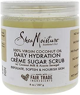 Shea Moisture 100 Percent Virgin Coconut Oil Daily Hydration Creme Sugar Scrub for Unisex, 8 Ounce