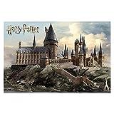 JRZDFXS Harry Potter Hogwarts 1000 Pieza Puzzle de Rompecabezas, Rompecabezas de Madera Libre para Adultos, Descompresión del Juego Familiar