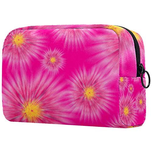 Trousse de toilette portable pour femme, trousse de maquillage, trousse de toilette pour femme, sac à main, organiseur de voyage rose profond