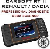 iCarsoft RT II pour Renault / Dacia Professional Diagnostic Scanner OBD2 Lit Effacer les codes d'erreur