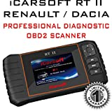 ICarsoft RT II pour Renault/Dacia Diagnostic professionnel OBD2Scanner lecture clair Erase codes d'erreur
