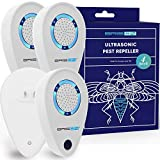 BRISON Ultrasonic Pest Reject Repeller - Plug in Electronic Non-Toxic Device - Electromagnetic and Ultrasound Control - Repellent for Mice Rats Bed Bugs Spiders Rodents Insects - Indoor (4)