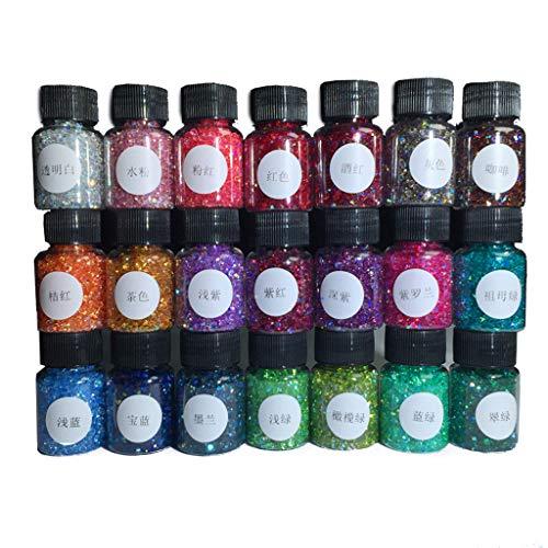 MENGSHI 21 colores decorativos cristales rotos piedras de resina a granel rellenos de diamantes de resina UV resina epoxi molde de joyería rellenos de manualidades hermoso y práctico