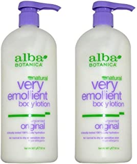 Alba Botanica Very Emollient Body Lotion, Unscented,2-pack, 32-Ounce Bottle