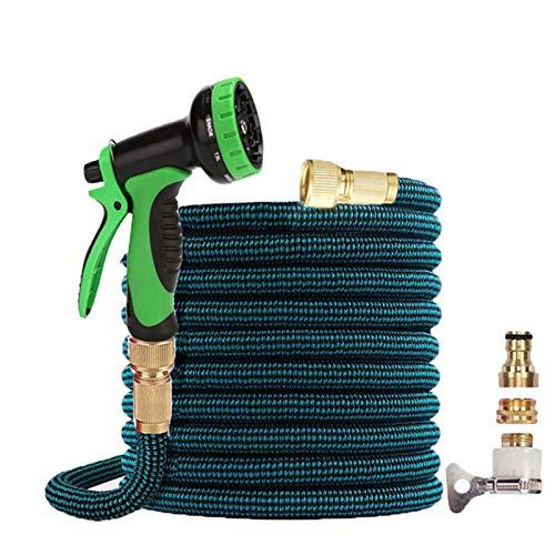 JSBAN Manguera de jardín expandible 16-125FT Alta presión de Lavado de Autos de Alta presión Manguera de Agua Flexible con Pistola de pulverización para regar (Color : B07, Diameter : 1/2'')