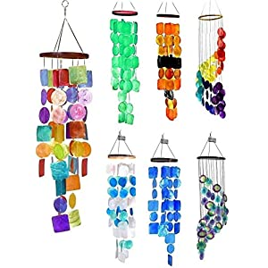 Bellaa 22890 Rainbow Wind Chimes Outside Garden Ya...