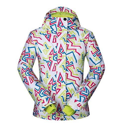 JSGJHXFWinter Ski-jack voor dames, winddicht, waterdicht, ademend, sneeuw, thermische kleding, warmtemantel, dames, snowboardjas, merk