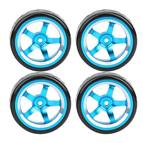 Accesorios para Autos RC Neumáticos para Autos RC, Amortiguación Fuerte Aleación de Aluminio + Goma Repuestos RC Reemplazo de Cubo de Rueda, para Servicio Tienda de modificación de