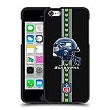 Head Case Designs Oficial NFL Casco Seattle Seahawks Logo 2 Funda de Gel Negro Compatible con Apple iPhone 5c
