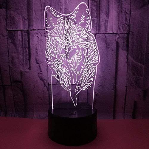 Touch Sensor Nachttischlampe Souvenir Werbung Kreative Wolf 3D Nachtlicht Tier 3D Geschenk Custom Touch 3D Kleine Tischlampe