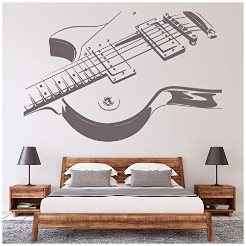 azutura Guitarra eléctrica Vinilos La música Rock Pegatina Decorativos Pared Kids Bedroom School Decoración Disponible en 5 tamaños y 25...