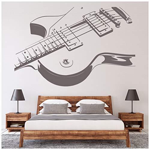 azutura Guitarra eléctrica Vinilos La música Rock Pegatina Decorativos Pared Kids Bedroom...