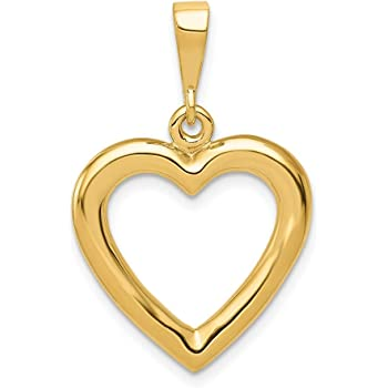 Heart Cut-out Pendentif Nouveau Charme or jaune environ 127.00 cm 14k 50 in