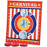 Gamie Carnival Bean Bag Toss Game for Kids, Adults and Family - Includes 3 Beanbags and Durable Wood Scoreboard - Fun Birthday Party Activity for Boys and Girls, Unique Carnival Supplies