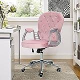 JYHZ Sillas, sillas de Oficina en el hogar, Mesas eléctricas giratorias y sillas, Velvet Tapstered Diamond Office Chame Sillones, sillas de Oficina ergonómicas Ajustables