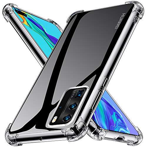 Kensou Huawei P40 Pro Hülle Silikon, Huawei P40 Pro Handyhülle Transparent Ultra Dünn TPU Bumper Anti-Kratzer Schock-Absorption Huawei P40 Pro Hülle - Klar