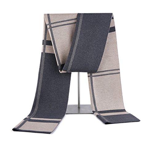 RIONA Sciarpa Uomo Giovane Autunno Inverno 30% Lana Sciarpa Morbido Casual Business 180 * 30 cm