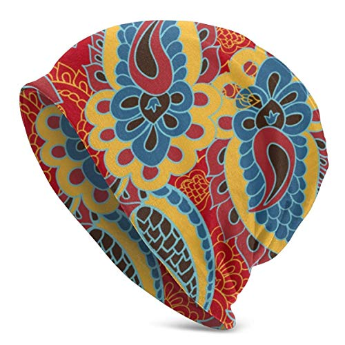 SWT-T Gorro de invierno con fondo de flor, cálido, elástico, suave, para hombres y mujeres, comodidad durante todo el año.