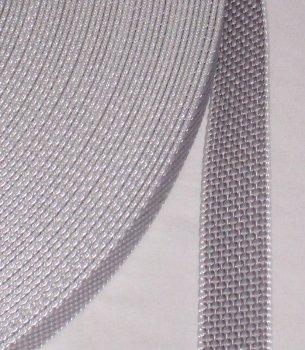 50 m Rolle stabil Rolladengurt - grau - Breite 23 mm - hohe Reißfestigkeit - UV Beständigkeit - Schmutzunempfindlichkeit - beste Scheuerfestigkeit - Perlonkantenschutz von Profi Produkte Vertrieb